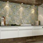 Küche Wandfliesen Via Zementmosaikplatten Fr Wand Einzelschränke Scheibengardinen Einbauküche L Form Mit E Geräten Betonoptik Abfallbehälter Holzofen Wohnzimmer Küche Wandfliesen