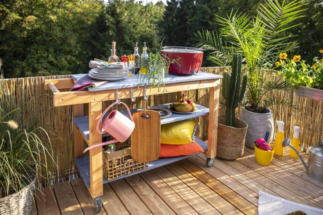 Large Size of Outdoor Kche Aus Holz Bauen Tipps Zur Planung Obi Mobile Küche Wohnzimmer Mobile Outdoorküche