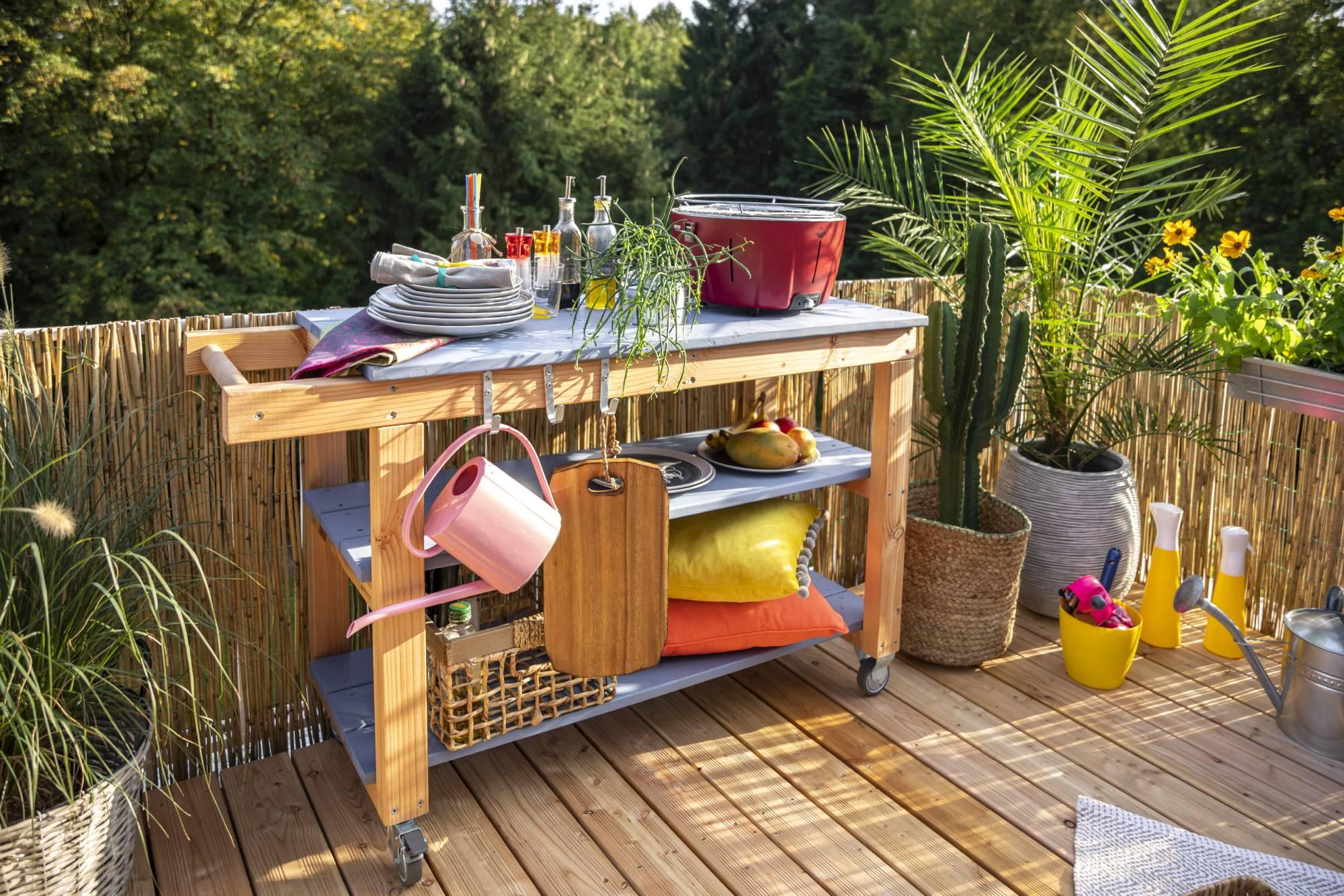 Full Size of Outdoor Kche Aus Holz Bauen Tipps Zur Planung Obi Mobile Küche Wohnzimmer Mobile Outdoorküche