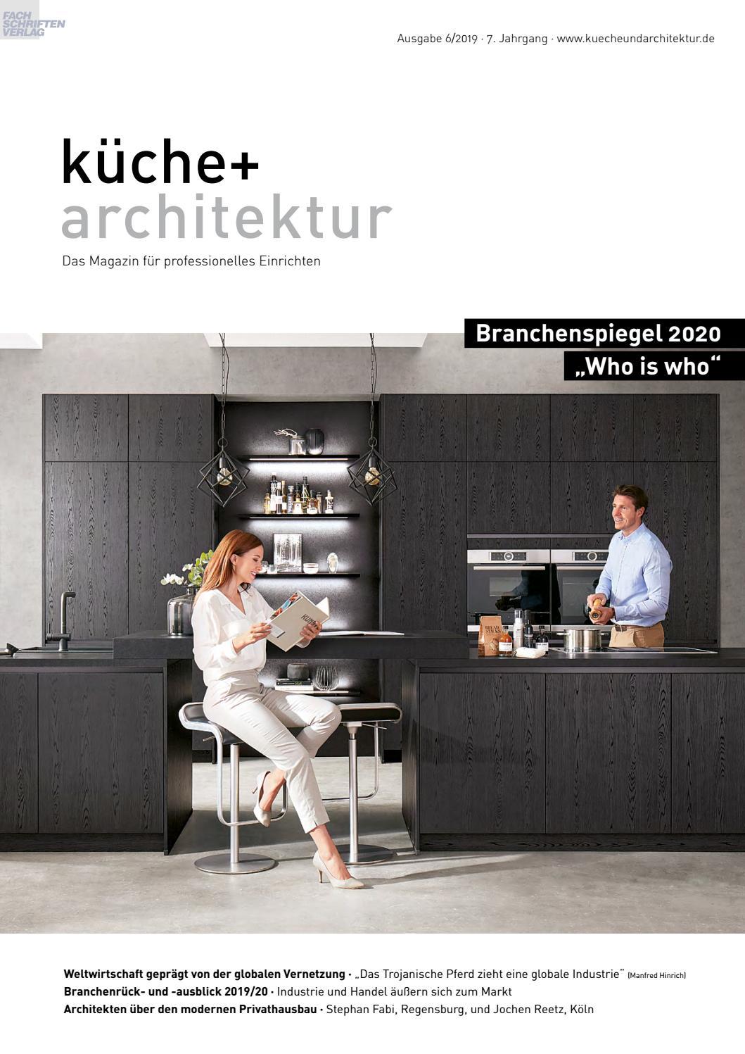Full Size of Kche Architektur 6 2019 By Fachschriften Verlag Inselküche Abverkauf Küchen Regal Bad Wohnzimmer Bulthaup Küchen Abverkauf österreich