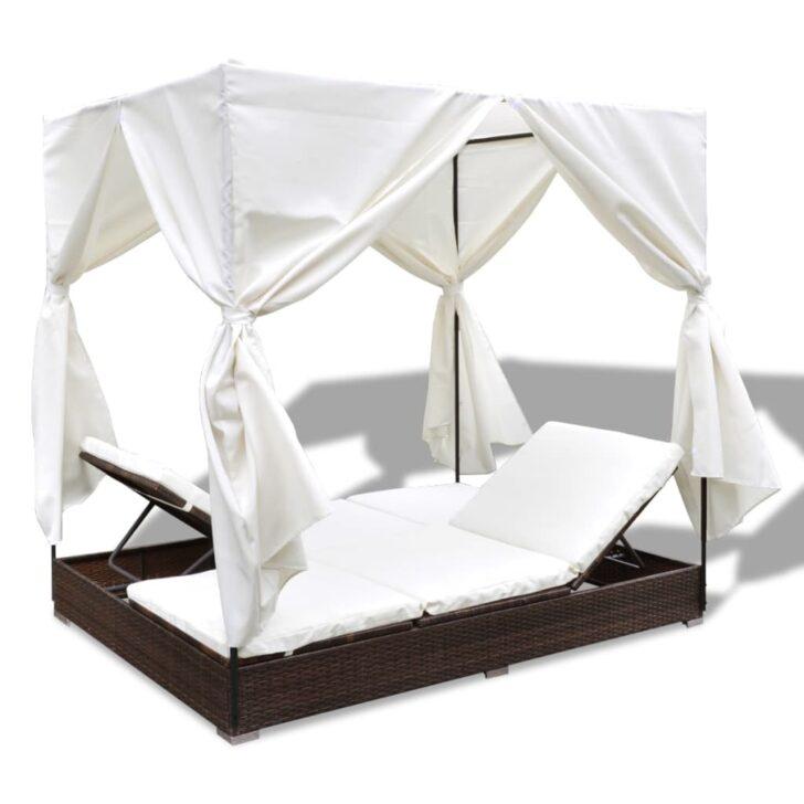 Medium Size of Bett Rattan Outdoor Loungset Loungebett Mit Vorhang Gartenmbel Poly Hohem Kopfteil Betten Günstig Kaufen 180x200 Bette Duschwanne 220 X 200 140x200 Weiß Wohnzimmer Bett Rattan