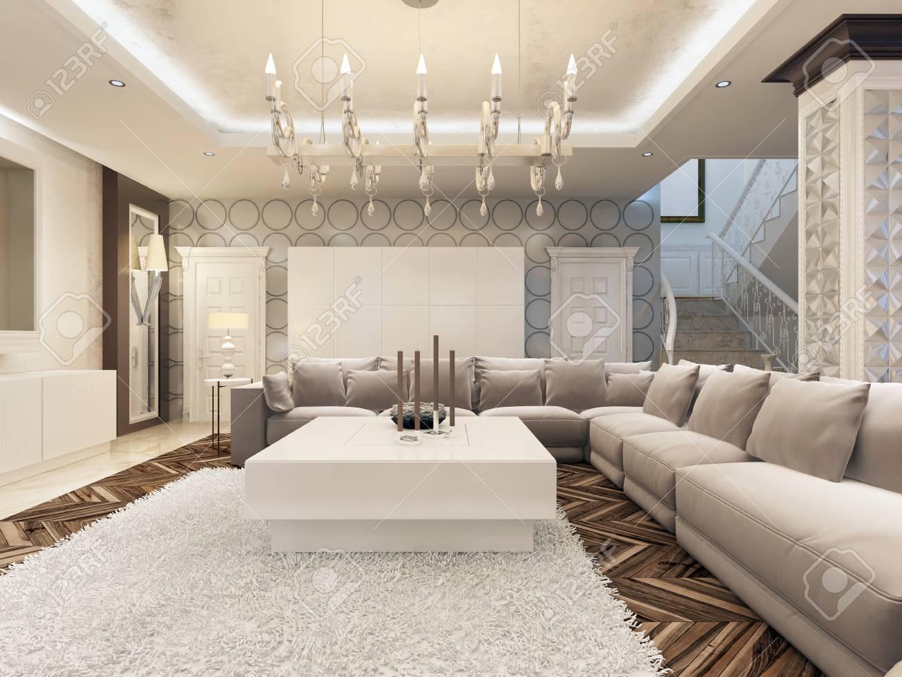 Full Size of Luxury Art Helles Wohnzimmer Mit Groen Ecksofa Und Großes Regal Sofa Bezug Garten Bild Bett Ottomane Wohnzimmer Großes Ecksofa