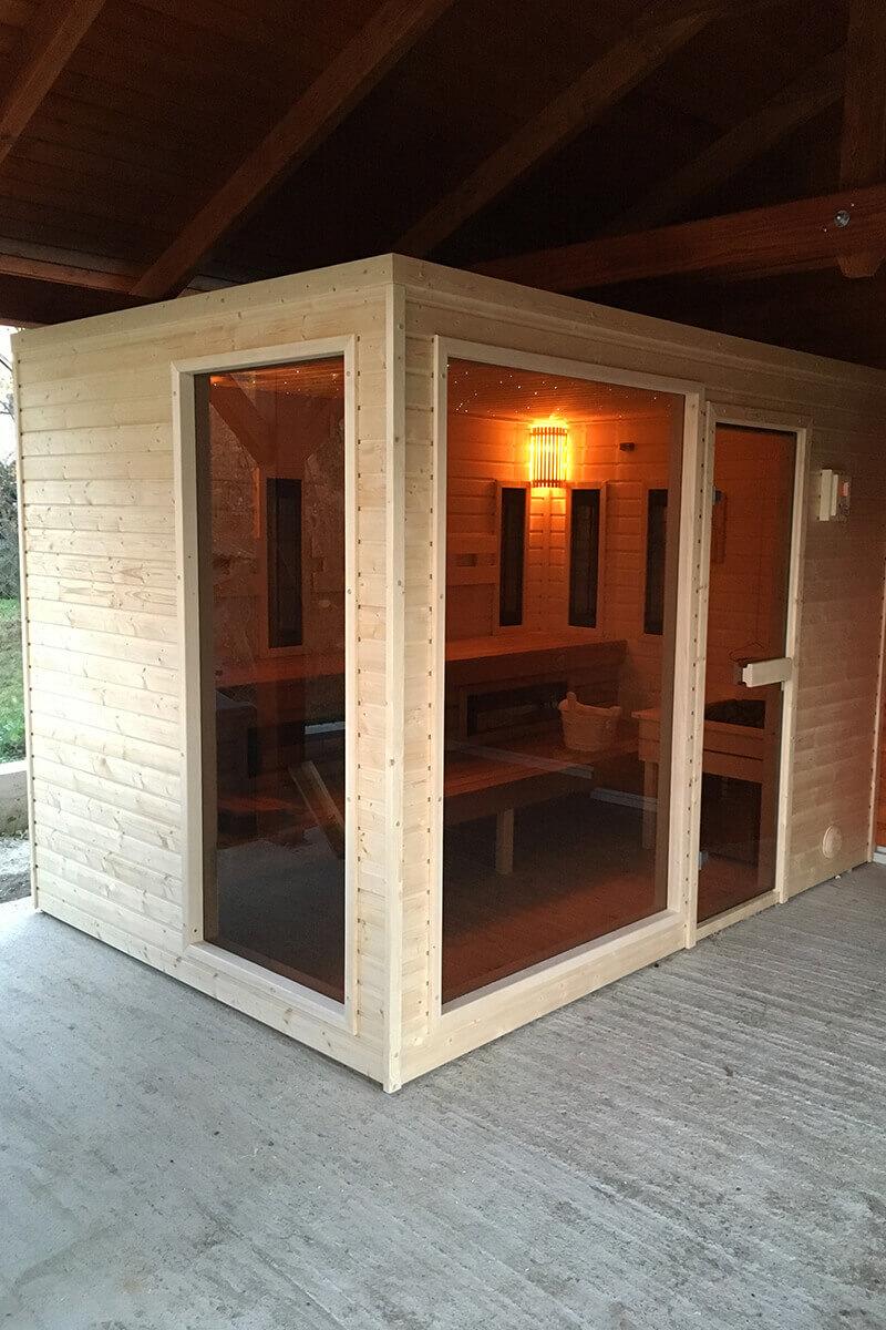Full Size of Außensauna Wandaufbau Saunen Fr Auen Sauna Zone Wohnzimmer Außensauna Wandaufbau