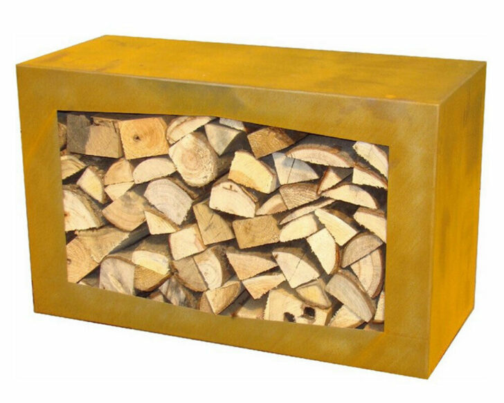 Medium Size of Yerd Holzbocorten Stahl Kaminholz Regal Wohnzimmer Holzlege Cortenstahl