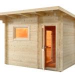 Harvia Sentiotec Massiv Holz Gartensauna Lava 3 Wohnzimmer Gartensauna Bausatz