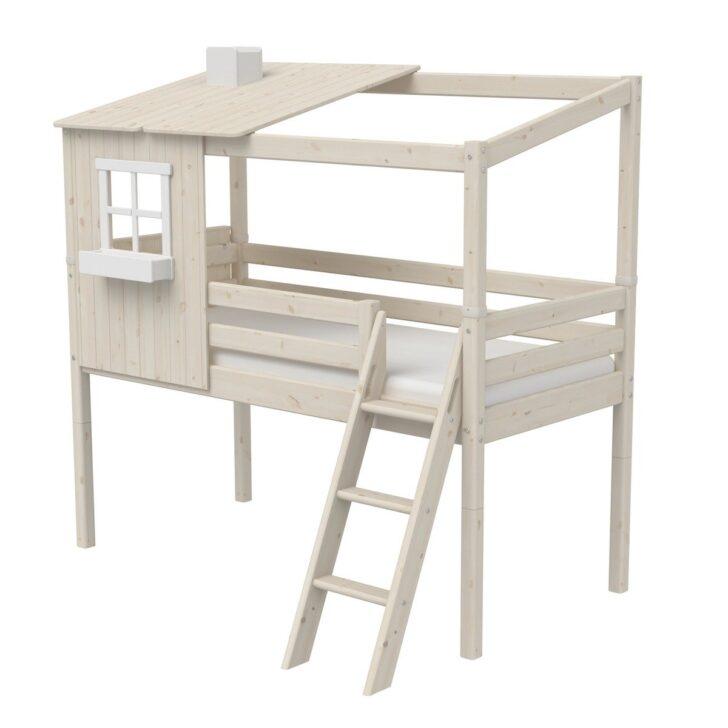 Medium Size of Halbhohes Hochbett Flexa Classic Bett Aus Holz 90x200cm Mit Halbem Wohnzimmer Halbhohes Hochbett