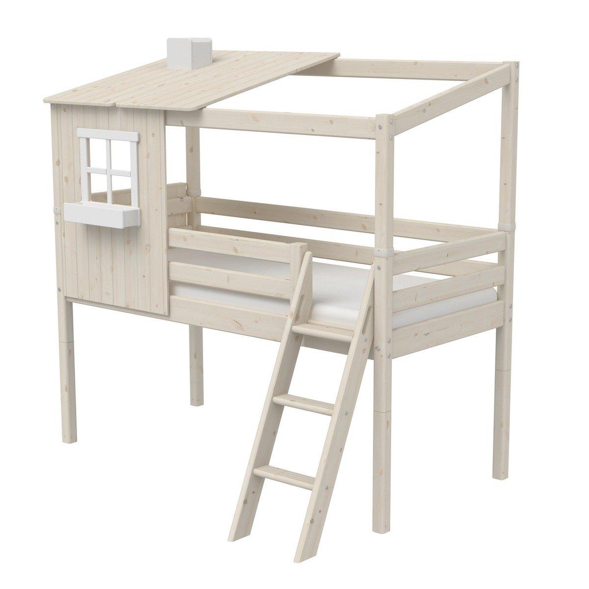 Full Size of Halbhohes Hochbett Flexa Classic Bett Aus Holz 90x200cm Mit Halbem Wohnzimmer Halbhohes Hochbett