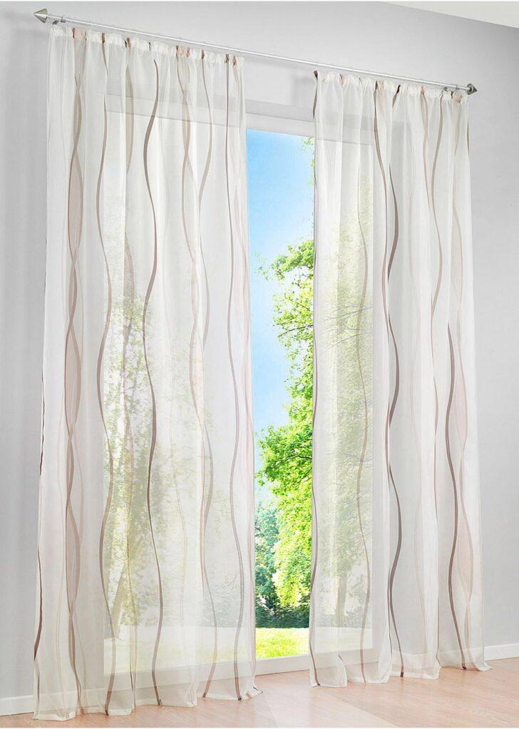 Medium Size of Transparente Gardine In Zeitlosem Design Creme Braun Vorhänge Küche Wohnzimmer Bonprix Betten Schlafzimmer Wohnzimmer Bon Prix Vorhänge