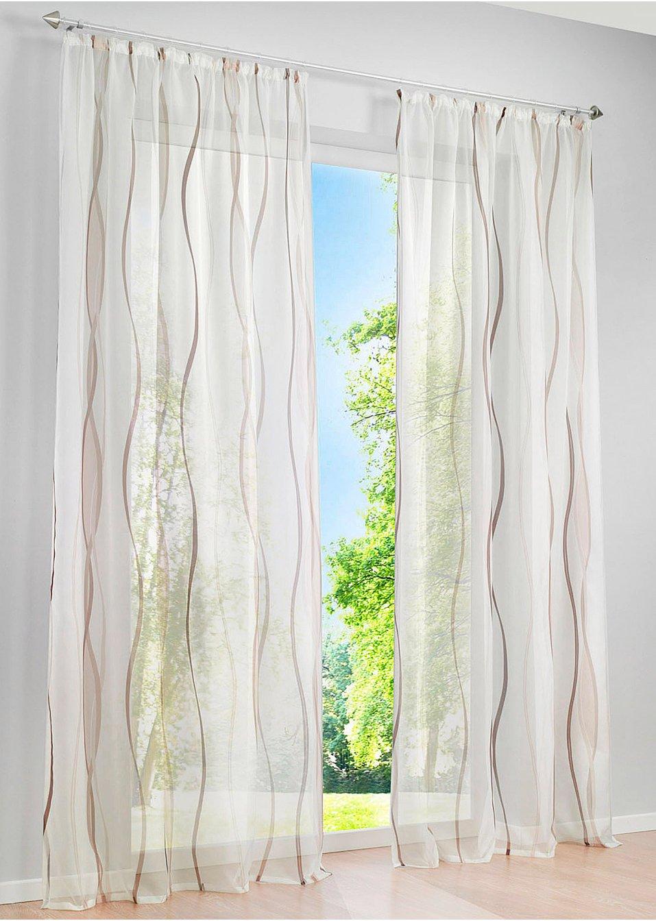 Full Size of Transparente Gardine In Zeitlosem Design Creme Braun Vorhänge Küche Wohnzimmer Bonprix Betten Schlafzimmer Wohnzimmer Bon Prix Vorhänge