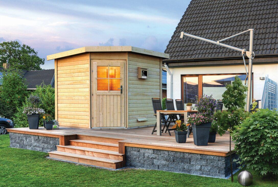 Large Size of Außensauna Wandaufbau Saunahaus Pirva Online Kaufen Karibu Wohnzimmer Außensauna Wandaufbau