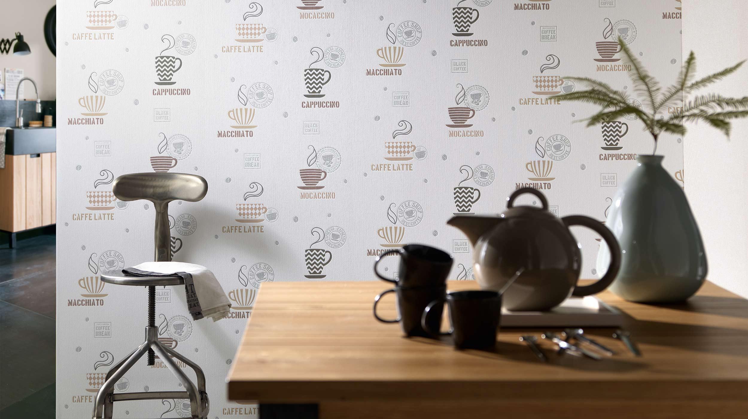 Full Size of Tapete Küche Kaffee La Maison Erismann Cie Gmbh Ausstellungsküche Led Deckenleuchte Deko Für Sprüche Die Aluminium Verbundplatte Komplettküche Büroküche Wohnzimmer Tapete Küche Kaffee