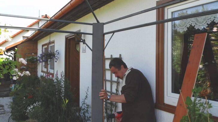 Medium Size of Pavillon Selber Bauen Metall Mit Holz Verkleiden 1 Youtube Bett Fenster Einbauen Kosten Regal Garten 180x200 Pool Im Einbauküche Rolladen Nachträglich Weiß Wohnzimmer Pavillon Selber Bauen Metall