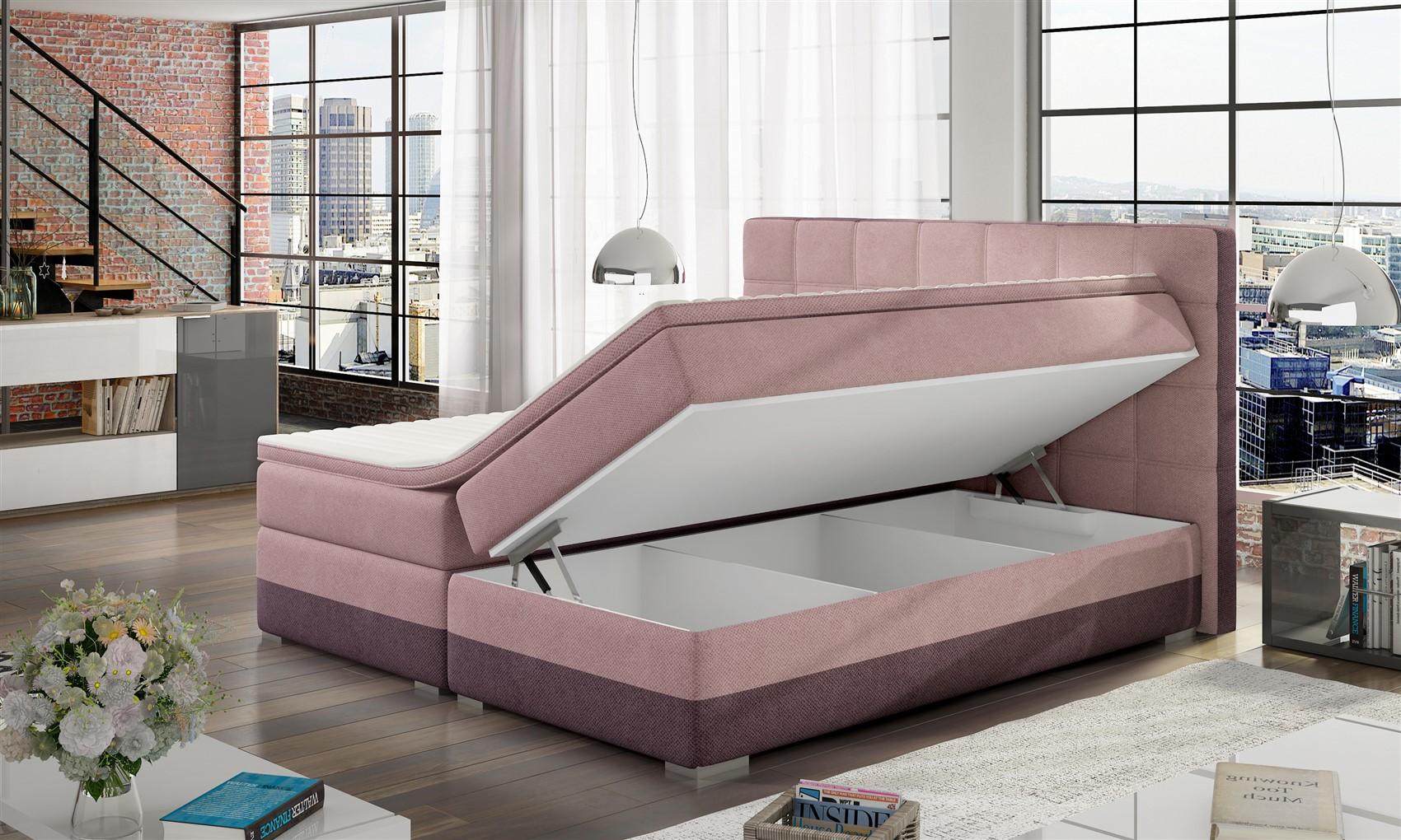 Full Size of Boxspringbett Bett Prato Webstoff Violett Rosa 120x200cm Fun Mbel Ausklappbar Kopfteil 140 140x200 Mit Matratze Und Lattenrost 160x200 Komplett Boxspring Wohnzimmer Bett 140x200 Rosa