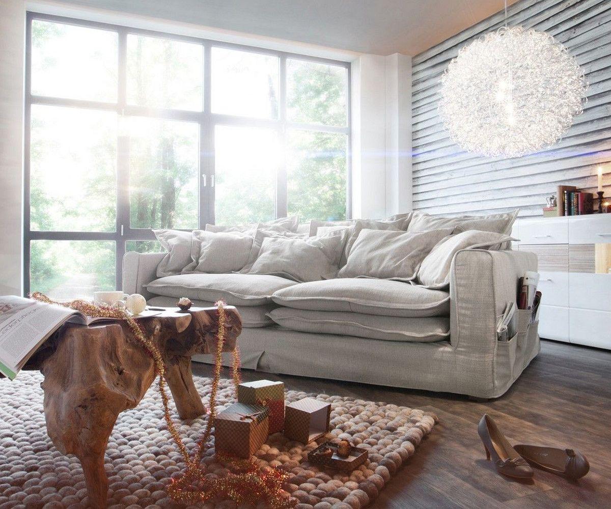 Full Size of Big Sofa Kuschelige Wohnideen Bei Couch Garten Ecksofa Großes Bild Wohnzimmer Regal Bezug Mit Ottomane Bett Wohnzimmer Großes Ecksofa