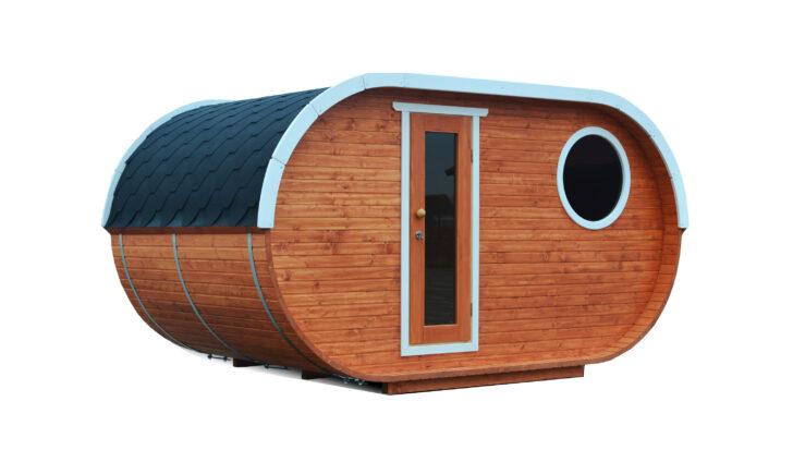 Medium Size of 1 Rumig Ovale Fasssauna Bausatz Wohnzimmer Gartensauna Bausatz