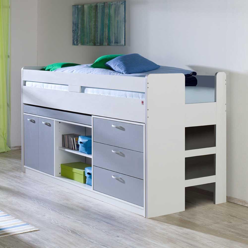 Full Size of Halbhohes Hochbett Bett Crevesca Mit Stauraum Pharao24de Wohnzimmer Halbhohes Hochbett