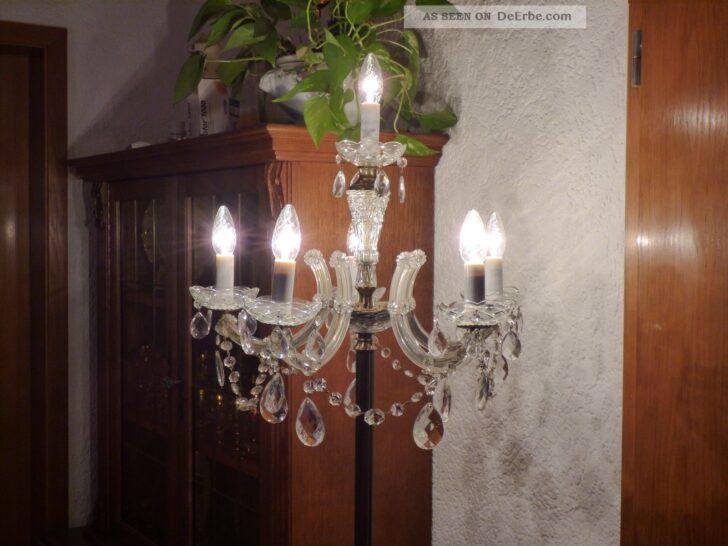 Medium Size of Wunderschne Antike Messing Kristall Stehlampe 6 Flammig Schlafzimmer Wohnzimmer Stehlampen Wohnzimmer Kristall Stehlampe