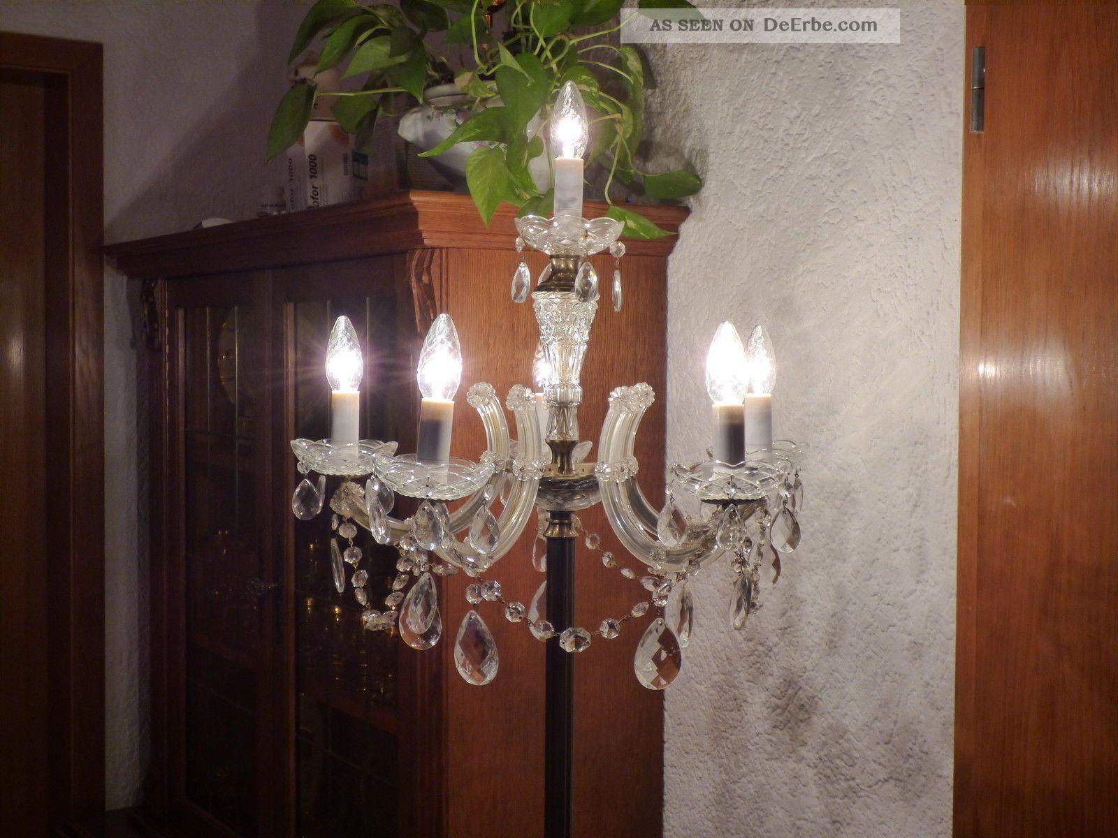Full Size of Wunderschne Antike Messing Kristall Stehlampe 6 Flammig Schlafzimmer Wohnzimmer Stehlampen Wohnzimmer Kristall Stehlampe