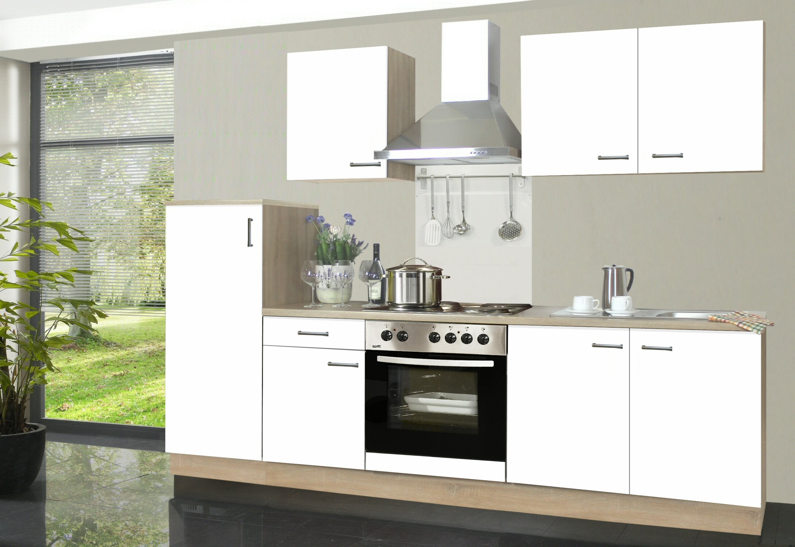Full Size of Küchen Roller Kchenzeile Biggi Inkl Elektrogerte Und Real Regal Regale Wohnzimmer Küchen Roller