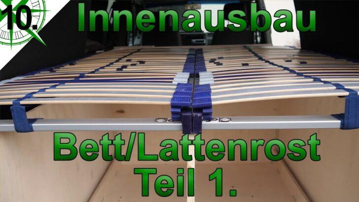 Medium Size of Ausziehbett Camper Innenausbau Bett Lattenrost Teil 1 Vom Vw T4 Syncro Mit Wohnzimmer Ausziehbett Camper