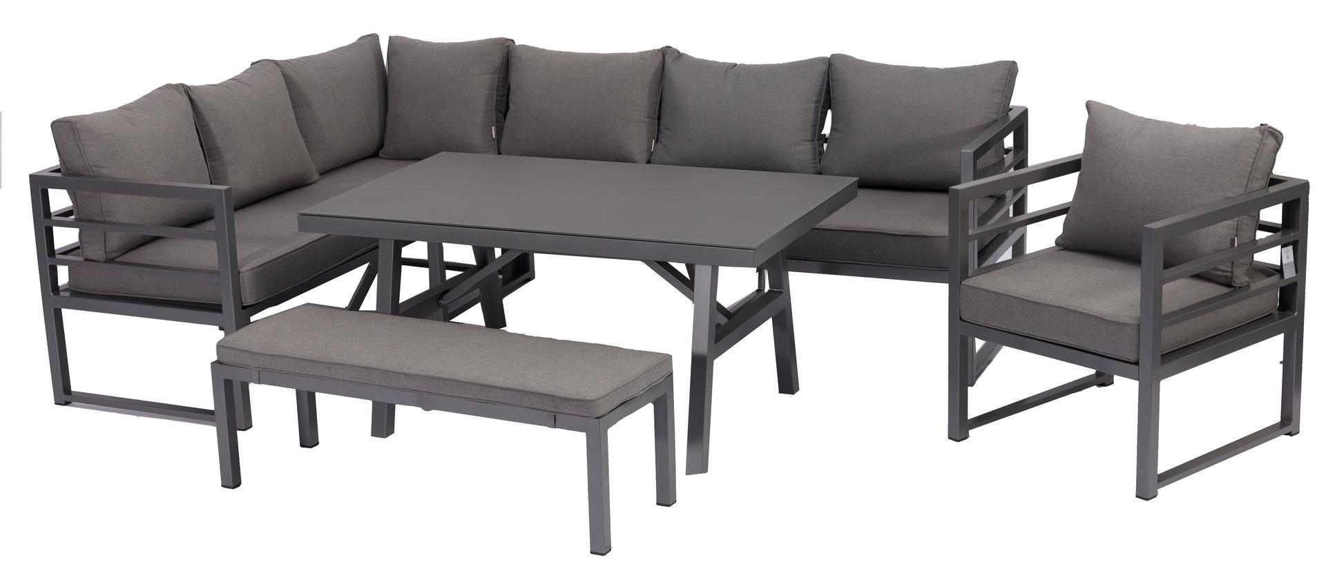 Full Size of Loungemöbel Aluminium Dining Eck Lounge Set Java Variabel Stellbar Sunbrella Bezug Garten Verbundplatte Küche Günstig Holz Fenster Wohnzimmer Loungemöbel Aluminium
