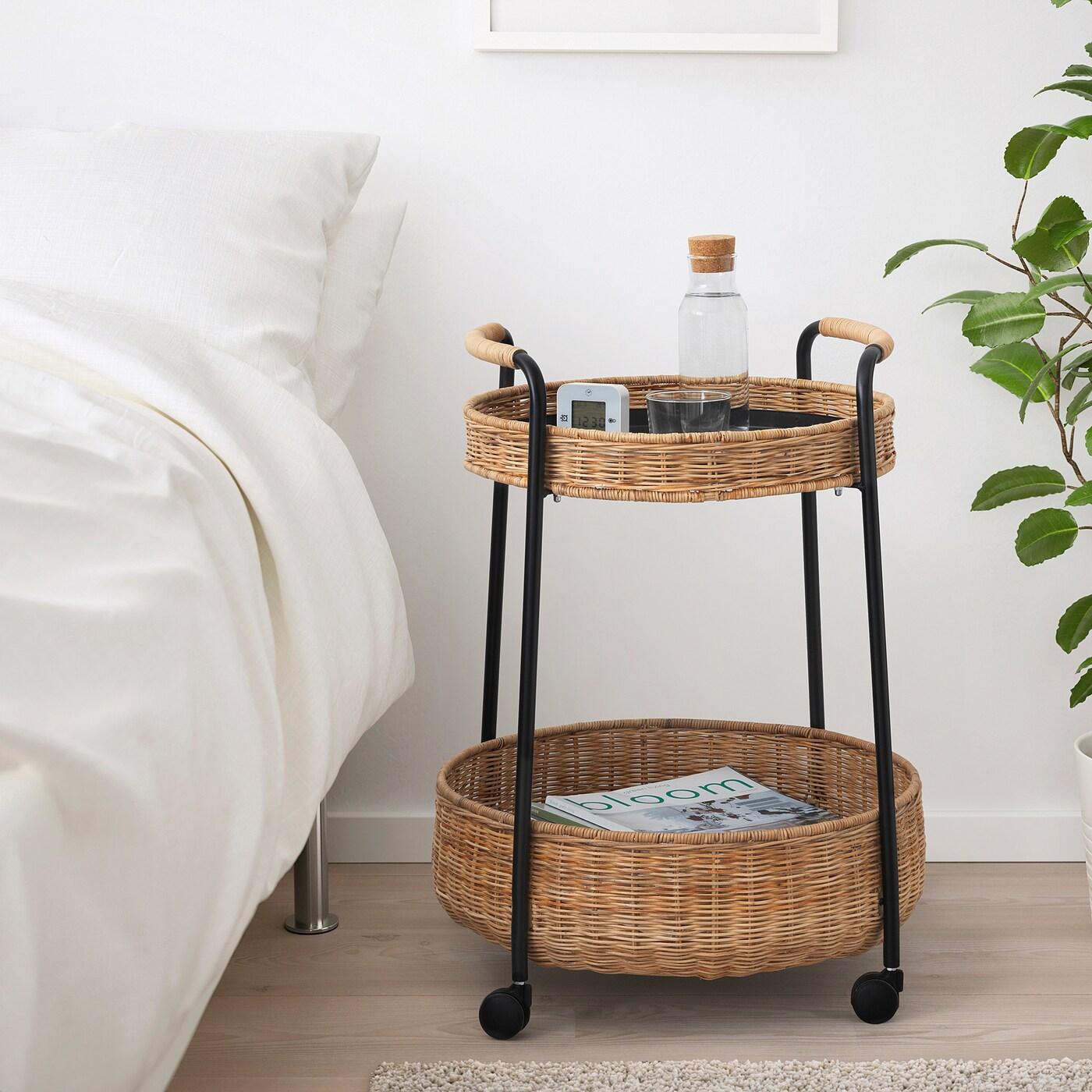 Full Size of Rattan Beistelltisch Ikea Lubban Rolltisch Mit Aufbewahrung Betten Bei Polyrattan Sofa Miniküche Küche Garten Kosten Schlaffunktion Modulküche Rattanmöbel Wohnzimmer Rattan Beistelltisch Ikea
