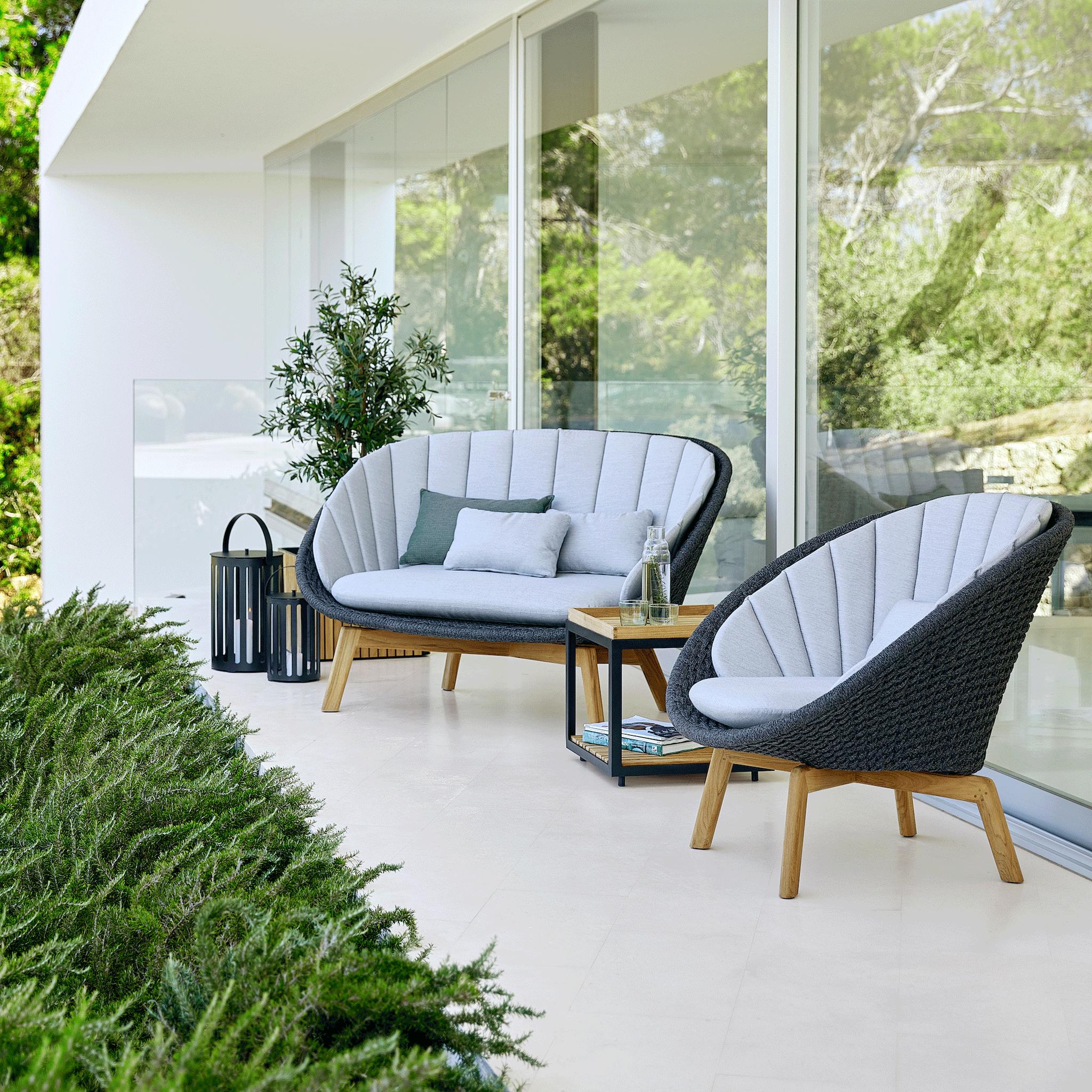 Full Size of Couch Terrasse 1 Cane Line Peacook Sofa Gartenstuhl Wohnzimmer Couch Terrasse