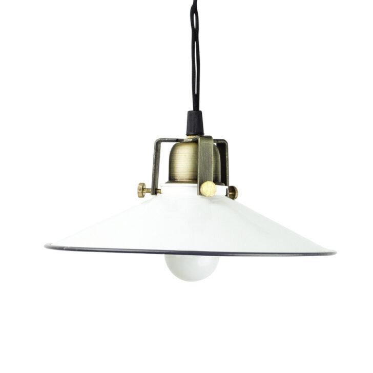 Medium Size of Deckenlampe Skandinavisch Weie Emaille Lampe Mit Messingfassung Schlafzimmer Deckenlampen Wohnzimmer Modern Für Esstisch Bad Küche Bett Wohnzimmer Deckenlampe Skandinavisch