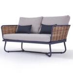 Gartensofa 2 Sitzer Aluminium Polyrattan Garten Sofa Vidaxl 2 Sitzer Massivholz Akazie Couch Ausziehbar Lounge Outdoor Grau Bett 160x200 Mit Lattenrost 180x200 Wohnzimmer Gartensofa 2 Sitzer