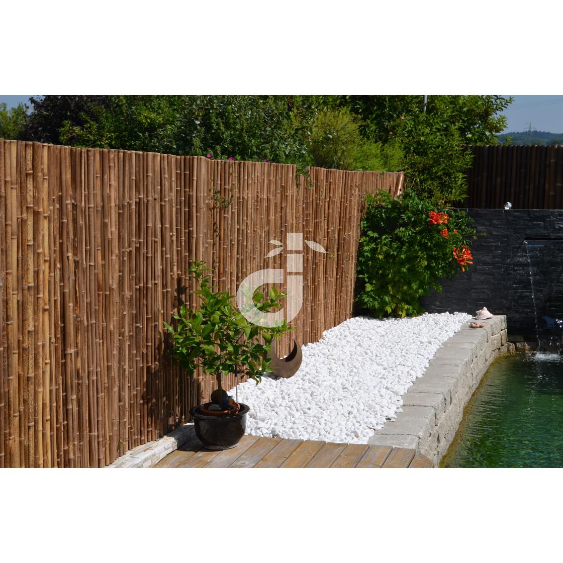 Full Size of Robuster Bambus Holz Sicht Schutz Zaun Aty Nigra Von De Commerce Garten Paravent Bett Wohnzimmer Paravent Bambus Balkon