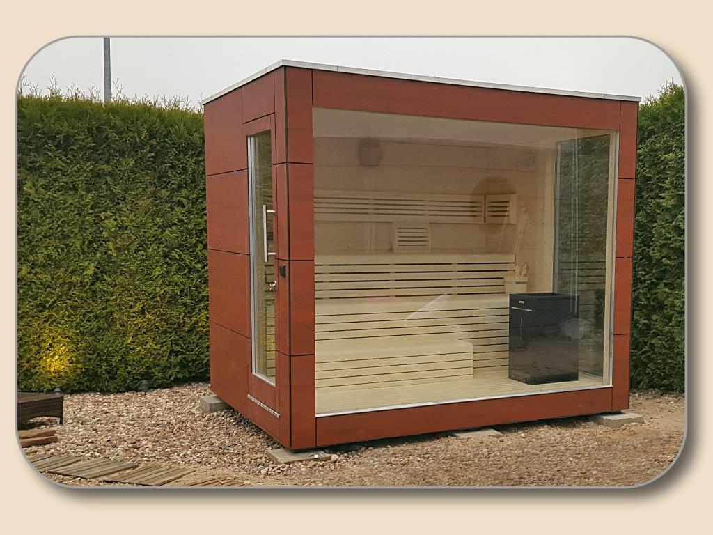 Full Size of Auensauna Modern Mit Glasfront Vom Hersteller Holzonde Wohnzimmer Gartensauna Bausatz
