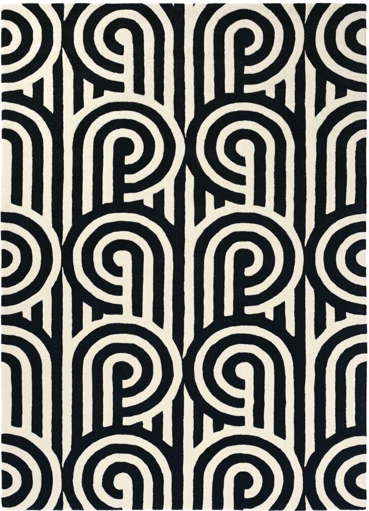 Medium Size of Teppich Schwarz Weiß Kurzflor Designer Florence Broadhurst Turnabouts 039205 Wohnzimmer Bad Regal Für Küche Bett Schweißausbrüche Wechseljahre Weißes Wohnzimmer Teppich Schwarz Weiß