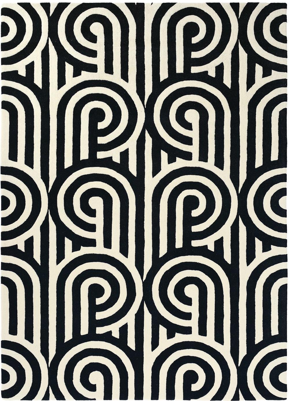 Full Size of Teppich Schwarz Weiß Kurzflor Designer Florence Broadhurst Turnabouts 039205 Wohnzimmer Bad Regal Für Küche Bett Schweißausbrüche Wechseljahre Weißes Wohnzimmer Teppich Schwarz Weiß