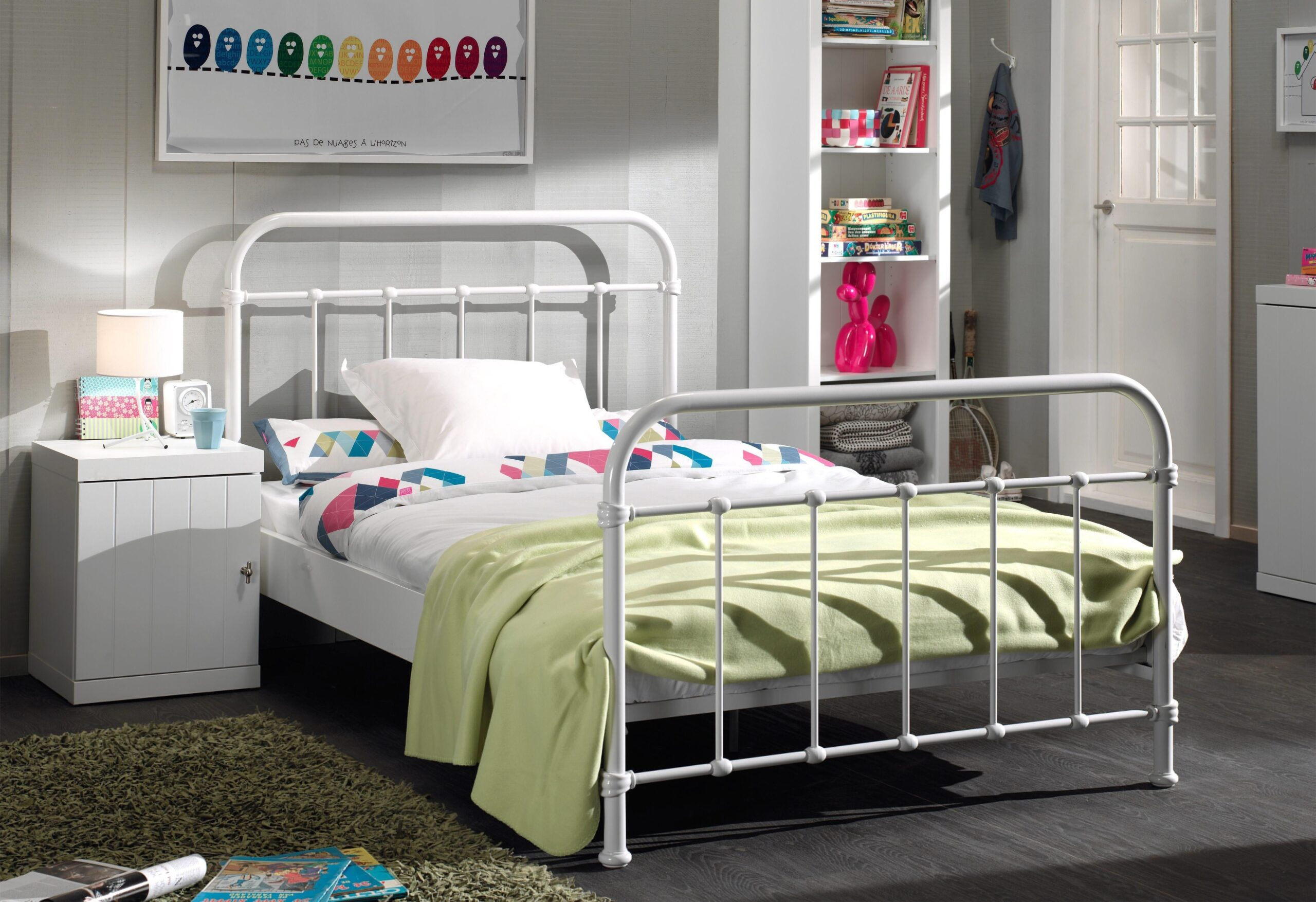 Full Size of Vipack Metallbett Kinderbett Bett Weiß 100x200 Betten Wohnzimmer Metallbett 100x200