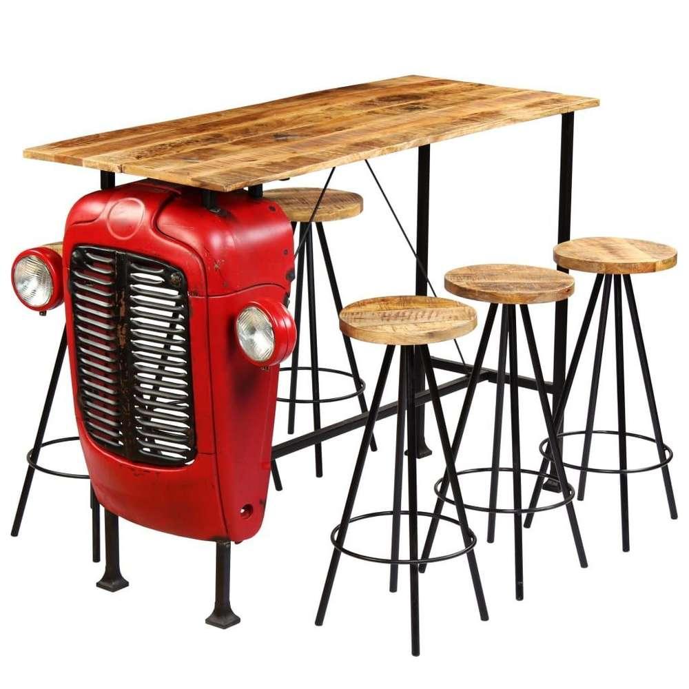 Full Size of Bartisch Set Bar 7 Tlg Massivholz Mango 15060107cm Wohnstatt24 Schlafzimmer Weiß Esstisch Günstig Mit Boxspringbett Küche Lounge Garten Dusche Komplett Bad Wohnzimmer Bartisch Set