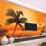 Nach 3d Foto Tapete Sdost Asiatischen Stil Beach Sunset Poster Wohnzimmer Fürs Wandtattoo Schlafzimmer Led Lampen Lampe Schrankwand Wohnzimmer Wohnzimmer Wandbild