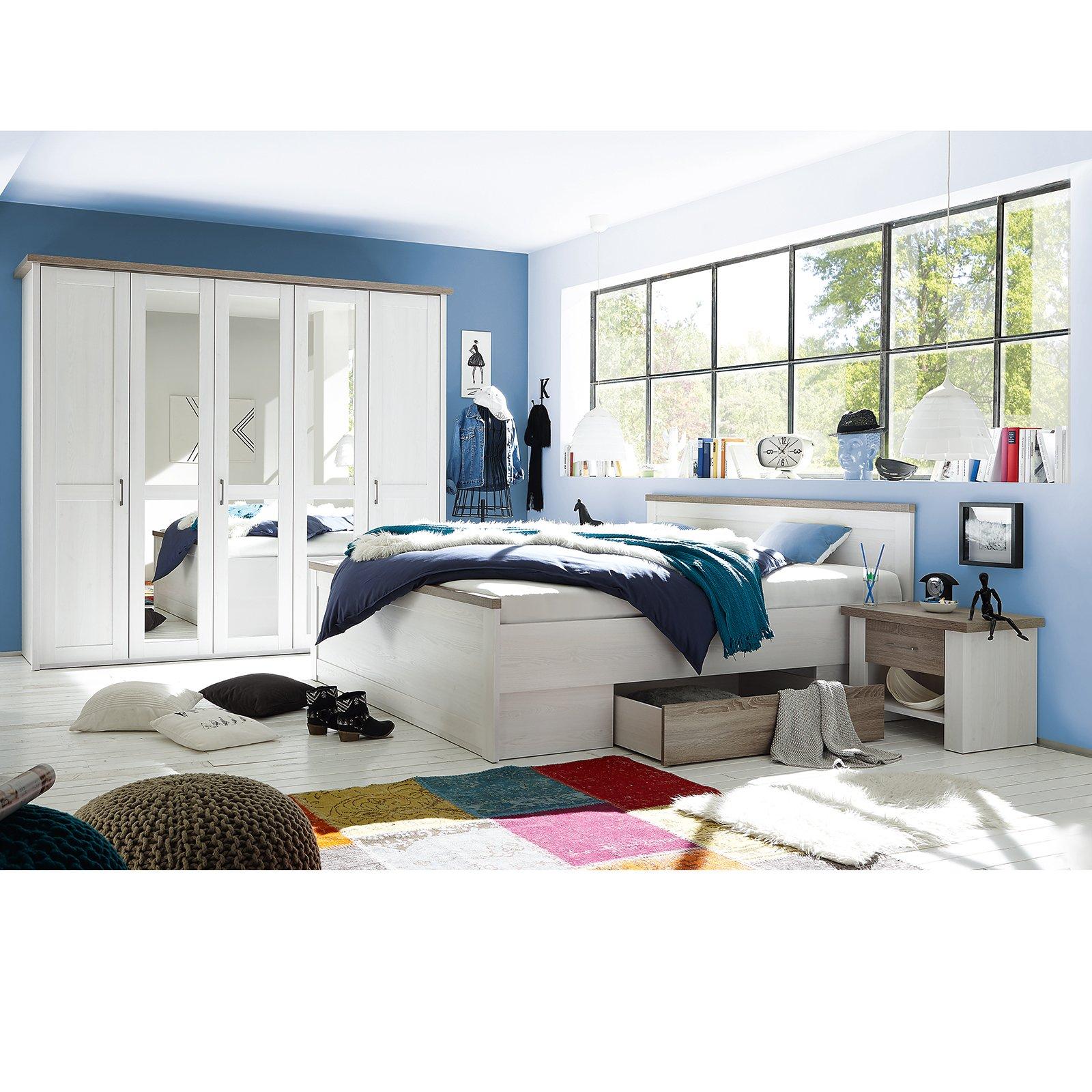 Full Size of 4 Teiliges Schlafzimmer Set Pinie Wei Trffel Online Bei Deckenleuchte Komplette Kommode Vorhänge Rauch Weiß Sessel Tapeten Deckenlampe Massivholz Modern Deko Wohnzimmer Roller Schlafzimmer