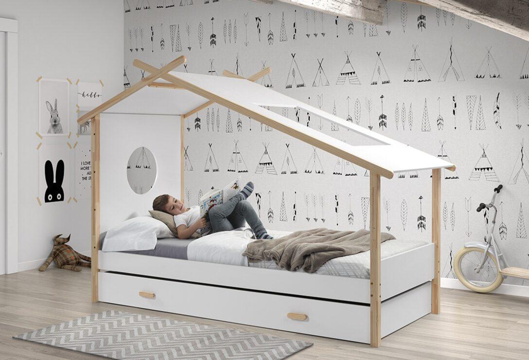 Large Size of Hausbett Cokomplett Mit Einzelbett Und Bettschublade Wei Küchen Regal Wohnzimmer Cocoon Küchen