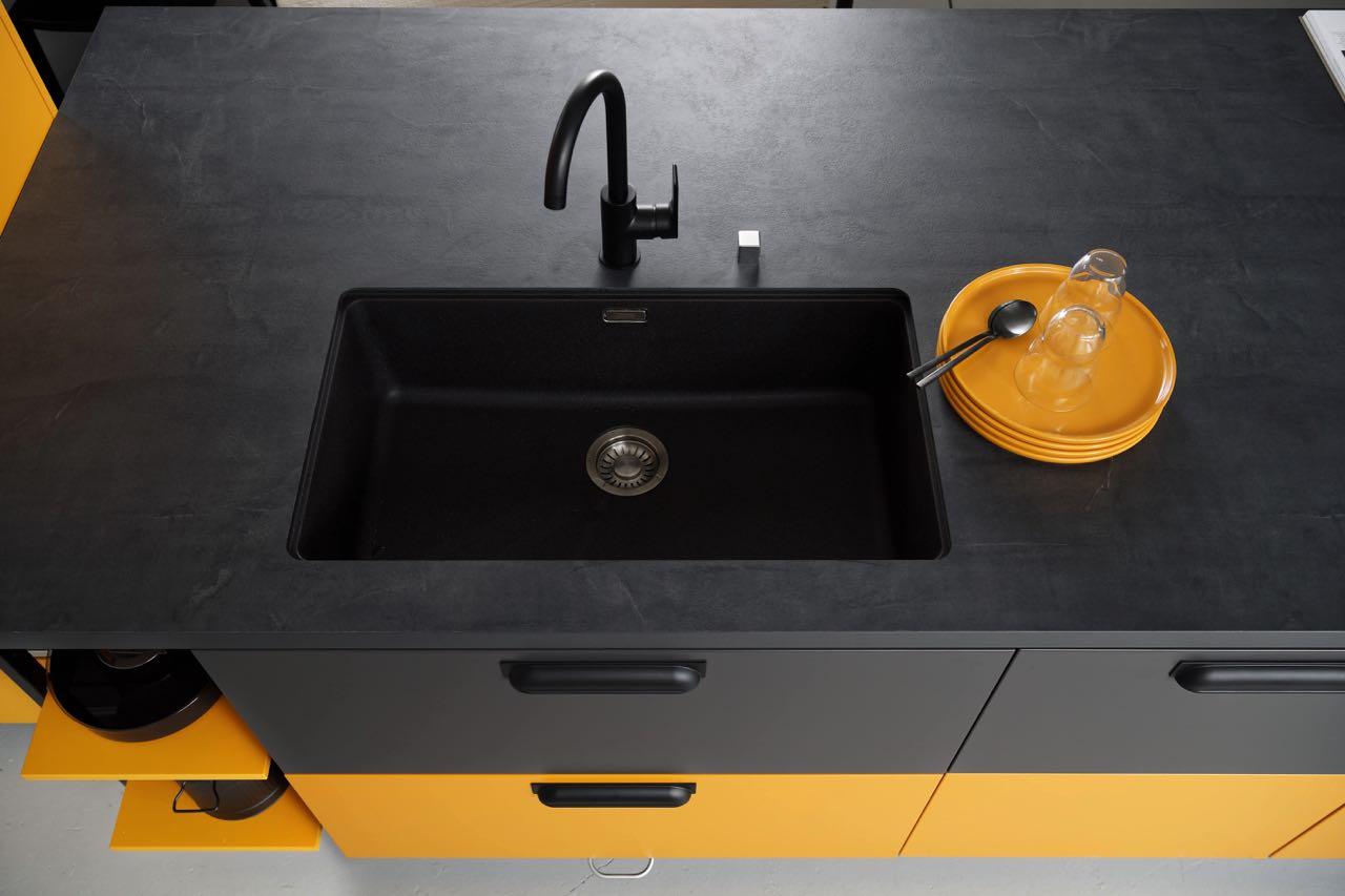 Full Size of Spülbecken Küche Granit Unterbausple Mit Schichtstoffplattte Kchen Journal Singleküche Tapete Günstig Elektrogeräten Sitzecke Einbauküche Kaufen Wohnzimmer Spülbecken Küche Granit