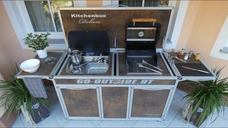 Medium Size of Kitchenbodeluxe Mobile Garten Und Outdoor Kche Youtube Küche Wohnzimmer Mobile Outdoorküche