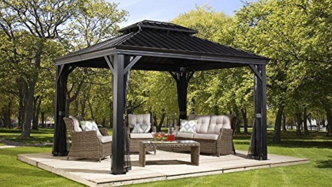Large Size of Pavillon Eisen Aluminium Berdachung Gazebo Messina 298x363 Cm Bxh Garten Wohnzimmer Pavillon Eisen