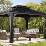 Pavillon Eisen Aluminium Berdachung Gazebo Messina 298x363 Cm Bxh Garten Wohnzimmer Pavillon Eisen