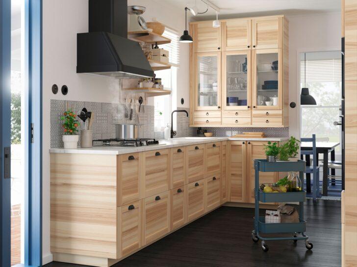 Medium Size of Inspiration Deine Kche In Holzoptik Ikea Deutschland Küche Günstig Mit Elektrogeräten Möbelgriffe Einbau Mülleimer Inselküche Abfallbehälter Was Kostet Wohnzimmer Ikea Küche Massivholz