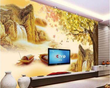 Wohnzimmer Wandbild Wohnzimmer Wohnzimmer Wandbild China Tapeten Lieferanten 3d Wallpaper Fototapete Relaxliege Vorhänge Stehlampen Led Deckenleuchte Landhausstil Deckenlampe Vorhang