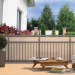 Trennwand Balkon Hecht Sichtschutz Polyester Garten Und Freizeit Wpc Glastrennwand Dusche Wohnzimmer Trennwand Balkon