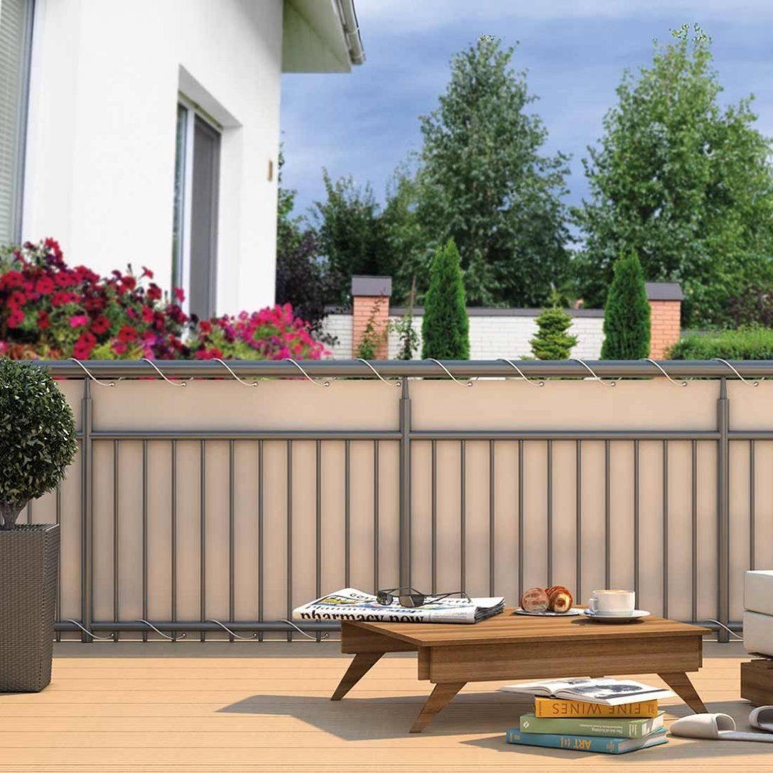 Full Size of Trennwand Balkon Hecht Sichtschutz Polyester Garten Und Freizeit Wpc Glastrennwand Dusche Wohnzimmer Trennwand Balkon