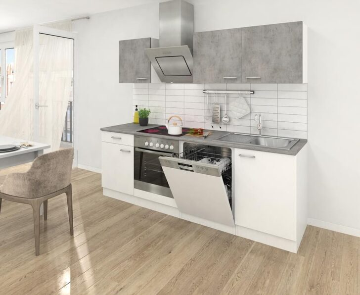 Medium Size of Respekta Kche Kchenzeile Kchenblock Einbaukche Real Küchen Regal Wohnzimmer Real Küchen
