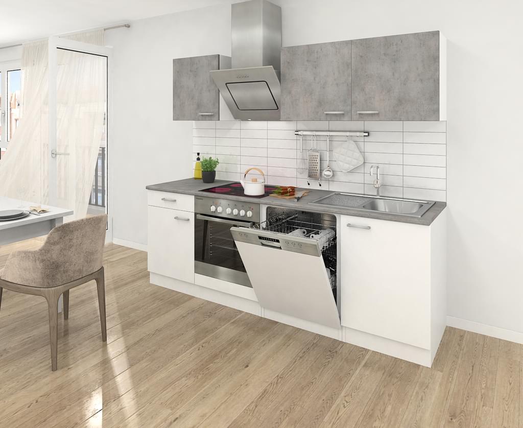 Full Size of Respekta Kche Kchenzeile Kchenblock Einbaukche Real Küchen Regal Wohnzimmer Real Küchen