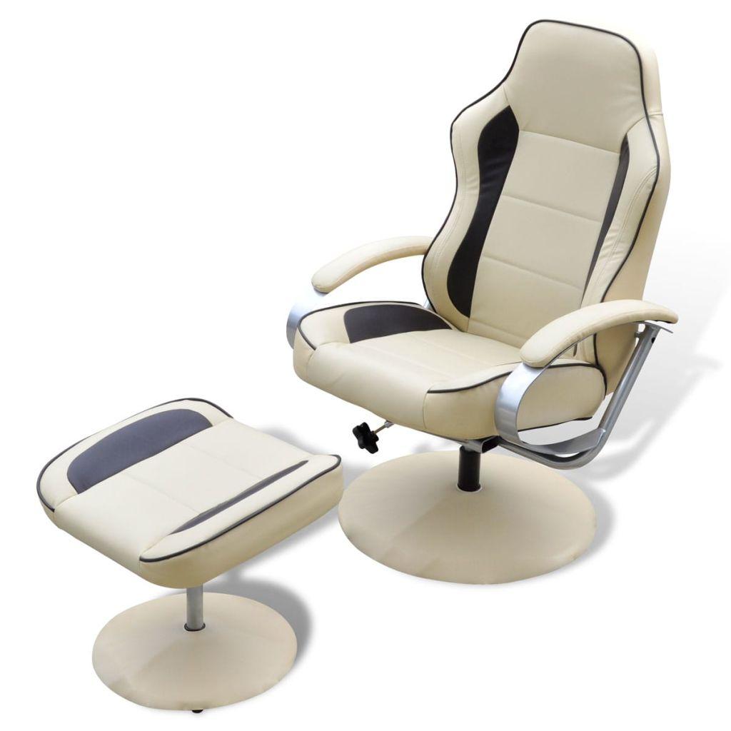 Full Size of Sessel Fuhocker Verstellbar Kunstleder Cremewei Gitoparts Sofa Mit Verstellbarer Sitztiefe Wohnzimmer Liegesessel Verstellbar