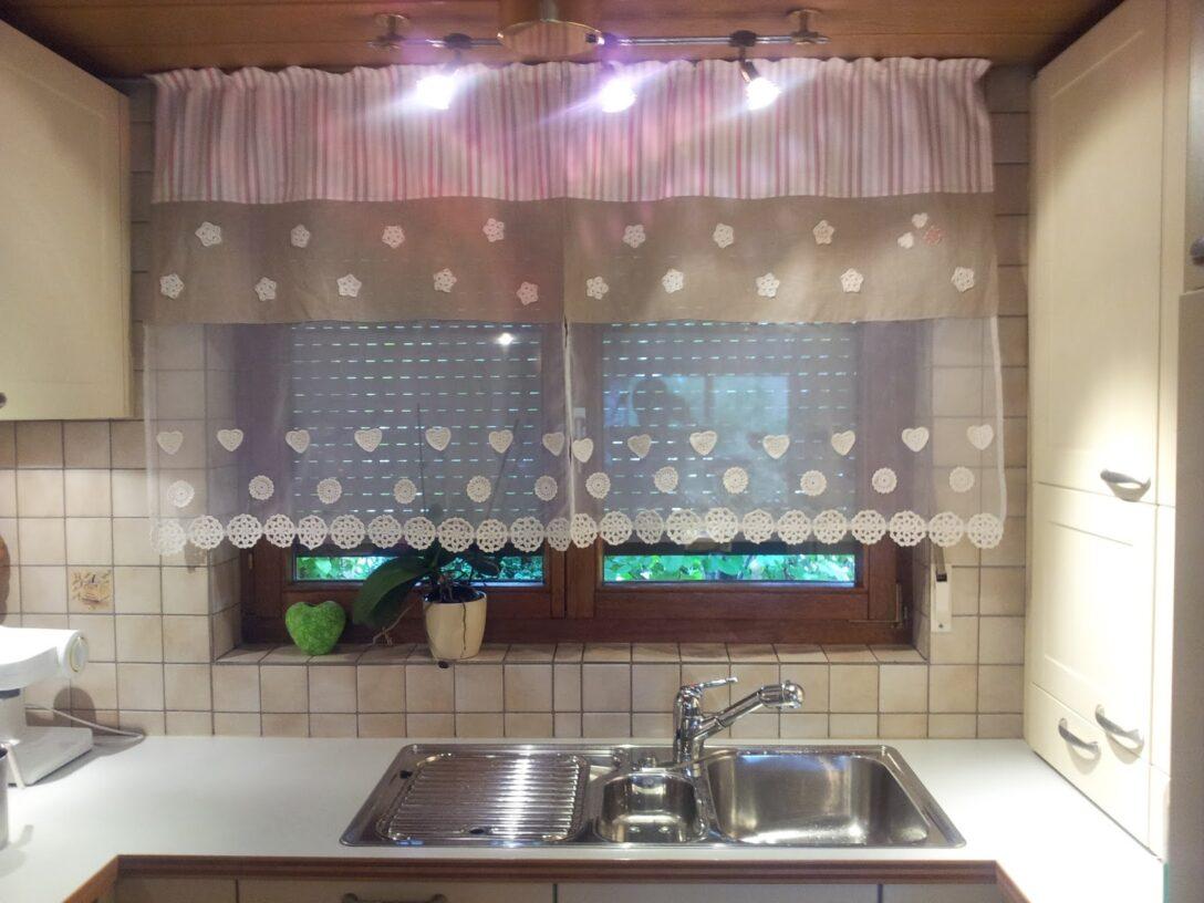 Large Size of Küchengardinen Ikea Kchengardine Mit Hkelelementen Schritt Fr Erklrt Miniküche Küche Kosten Sofa Schlaffunktion Kaufen Betten Bei Modulküche 160x200 Wohnzimmer Küchengardinen Ikea